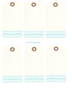 Free printable chevron tags