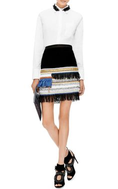Embellished Suede Skirt by Derek Lam 10 Crosby - Moda Operandi