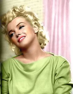 Marilyn Monroe in her green Pucci dress, she was laid to rest in it.