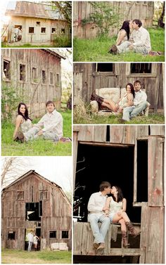 Engagement Photo Idea - Could we do some photos at Zach's barn they are redoing??? @Ashley Walters Deden??