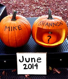Thanks pinterest for the great pregnancy announcement photo idea!