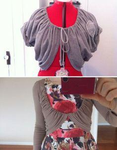 DIY-fashion-t-shirt-shrug
