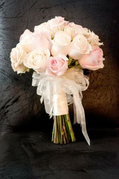 blush pink and white bridal wedding bouquet