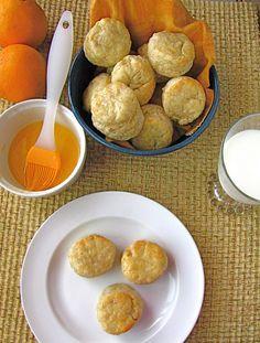 walnut butter scones with orange glaze