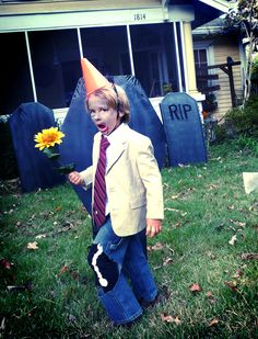 Dabbled: kids conehead zombie costume from plants vs zombies