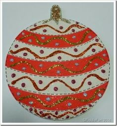 Ikea Christmas Bauble Coaster, Craft project