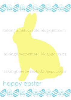 FREE Easter Bunny printable. www.takingtimetocreate.blogspot.com #Easter #Free #Printable