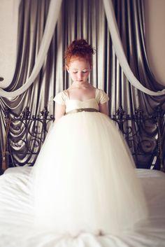 Flower Girl Dress Ivory. $250.00, via Etsy.
