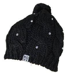 "Roxy ""Shooting Star"" Bling Beanie Cap Hat Black"