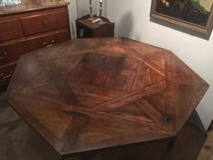 Walnut parquet table