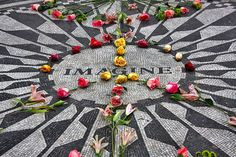 Strawberry Fields in Central Park #NYC http://www.nyhabitat.com/blog/2013/09/30/live-like-local-upper-west-side-manhattan/