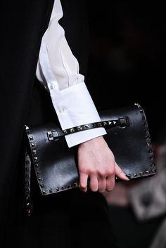 Valentino studded clutch bag black