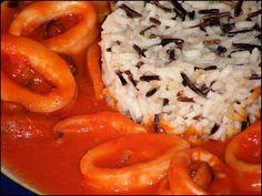 Calamares con salsa americana