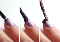 tutorial - scalloped nails