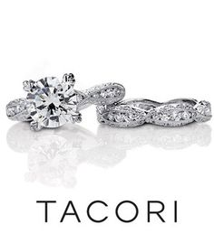 Tacori engagement ring and wedding band!