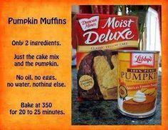Pumpkin Muffins....Simple! Just mix&bake