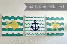Bathroom wall art using #shapetape @odeleanne