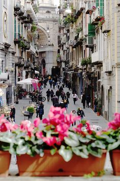 The streets Naples, Italy.
