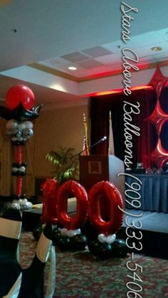 100 anniversary banquet decor