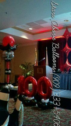 100 anniversary banquet decor