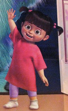 girl from monster inc | monsters inc boo waving monsters inc boo waving