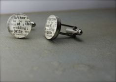 #FatheroftheBride Sterling Silver Round Cufflinks