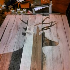 For a hunter's man cave. Deer pallet.