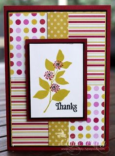 handmade card: Stampin' Up! Summer Silhouettes ... shows off coordinated papers and inks ... good way to use a smaller image on a bigger card ...