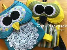 Owl Backpack pattern on Craftsy.com backpacks, little girls, handbags, schools, loft, owl backpack, owls, back to school, sewing patterns