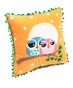 Orange Owl Love Pillow