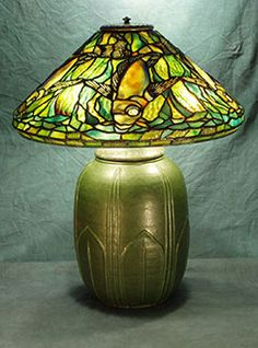 "16"" Fish on Leaves of Grass Base Reproduction Lamp - 16"" shade designs make a great decorating statement in any room. The variety of design options and limitless color combinations are extremely versatile and prefectly suited to enhance any design concept. These shades are often used as petite chandeliers in breakfast nooks and dens."
