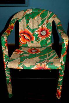 Cadeira revestida de Chitão | Pitó Pitomba. | 1FD05D - Elo7