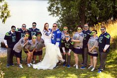 One of the Bridal Party Gifts was a Jersey... Had to get photos with all of us in our new Jerseys!