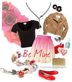 """Be Mine"" by trollbeadbracelets ❤ liked on Polyvore"