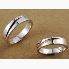 Wedding Bands for Men and Women Set with Names Engraved