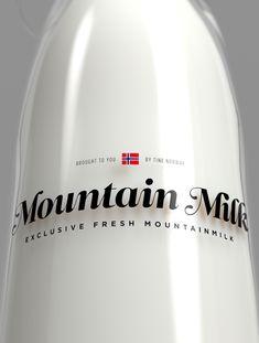 Tine Melk - Mountain Milk by Anders Drage, via Behance