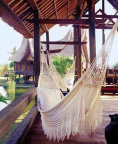 White hammocks