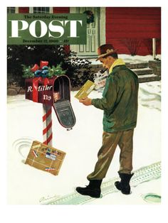 """Merry Christmas from the IRS"" by Ben Kimberly Prins. Issue: December 17, 1960. ©SEPS. Giclee print available at Art.com."