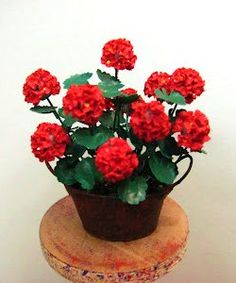 how to: geraniums in a rusty pot
