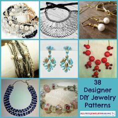 38 Designer DIY Jewelry Patterns | AllFreeJewelryMaking.com