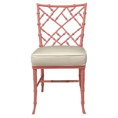 Chinoiserie - Pink Bamboo Chair