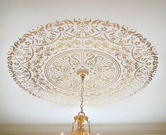 Stencilled ceiling medallion