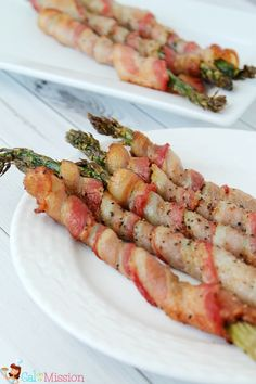 Bacon Wrapped Asparagus - A quick and easy side dish and/or appetizer that suits all tastes buds.