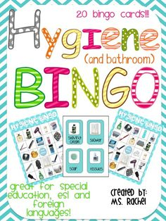 Hygiene & Bathroom Bingo