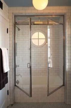 shower doors..architect-Tim Barber Ltd, Interior Design-Kristen Panitch