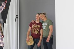 Dan and Pete King are actually wearing shirts! #FarmKings