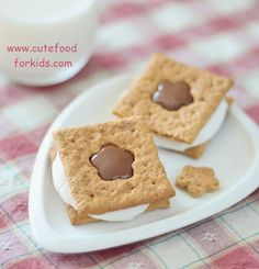 How to cut out shapes on graham crackers