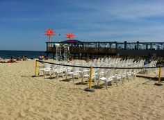 A seaside ceremony at Martell's Tiki Bar in Point Pleasant Beach, NJ ~ The Jersey Shore. Summer 2012
