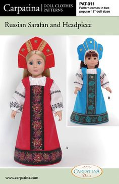Russian Sarafan Costume Doll Clothes Pattern in two by carpatina, $9.95