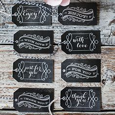 Download and print these vintage chalkboard style gift tags for any occasion all year round.